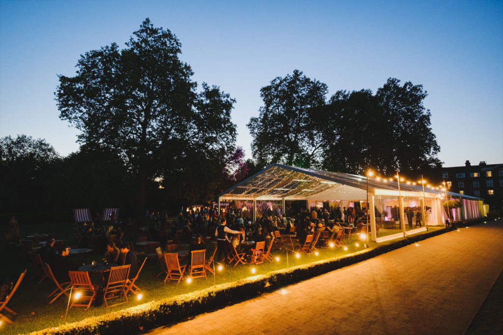 York Lawns Summer Party at night